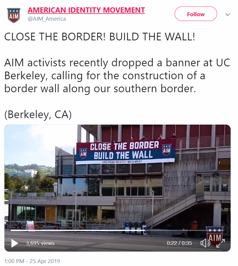 AmIM Trump Build The Wall Tweet