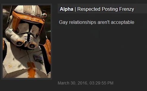 Richard Golgart Homophobe