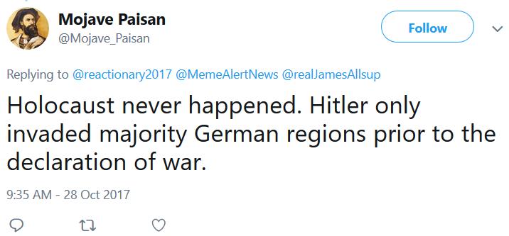 Ricky Golgart @Mojave_Paisan Holocaust Never Happened