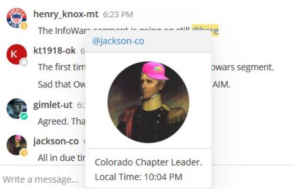 Jeremy Riesberg aka Jackson American Identity Movement Colorado Chapter Leader