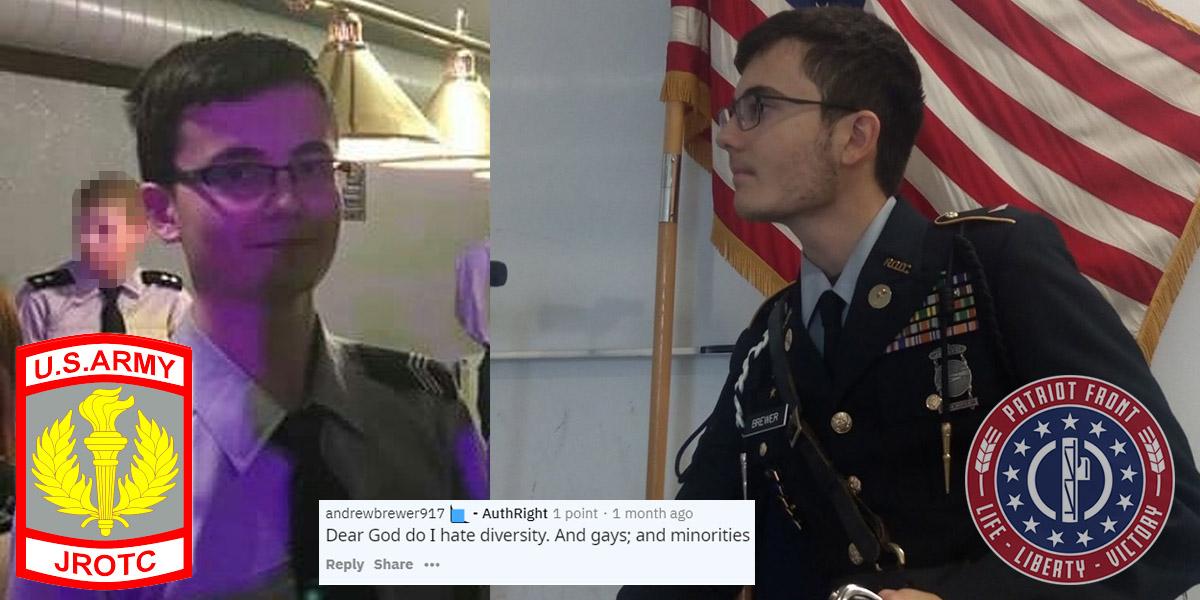 JROTC Cadet & Patriot Front Recruit Andrew Brewer (GER)