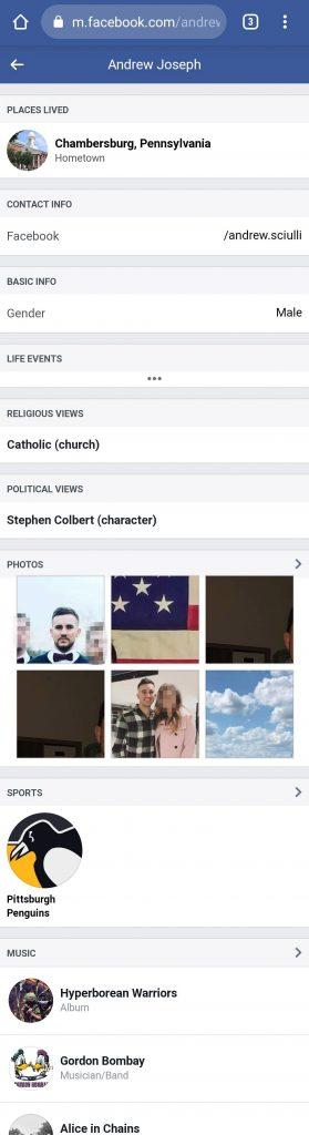 7 Andrew Sciulli Facebook profile Andrew Johnson